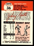 1953 Topps Archives #36  Johnny Groth  Back Thumbnail