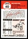 1953 Topps Archives #40  John Lipon  Back Thumbnail