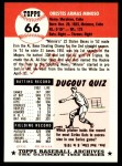 1953 Topps Archives #66  Minnie Minoso  Back Thumbnail