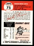 1953 Topps Archives #75  Mike Garcia  Back Thumbnail