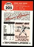 1953 Topps Archives #205  Vern Benson  Back Thumbnail