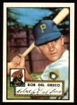1952 Topps REPRINT #353  Bobby Del Greco  Front Thumbnail