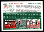 1954 Topps Archives #201  Al Kaline  Back Thumbnail