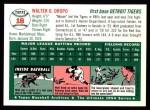 1954 Topps Archives #18  Walt Dropo  Back Thumbnail