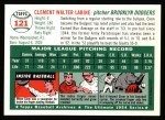 1954 Topps Archives #121  Clem Labine  Back Thumbnail