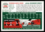 1954 Topps Archives #206  Ray Crone  Back Thumbnail