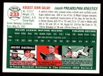 1954 Topps Archives #233  Augie Galan  Back Thumbnail
