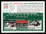 1954 Topps Archives #236  Paul Penson  Back Thumbnail