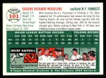 1954 Topps Archives #101  Gene Woodling  Back Thumbnail