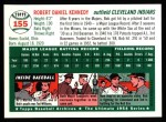 1954 Topps Archives #155  Bob Kennedy  Back Thumbnail
