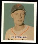 1949 Bowman REPRINT #109  Ed Fitzgerald  Front Thumbnail