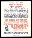 1949 Bowman REPRINT #91  Dick Wakefield  Back Thumbnail
