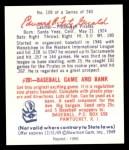 1949 Bowman REPRINT #109  Ed Fitzgerald  Back Thumbnail