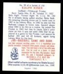 1949 Bowman REPRINT #29  Ralph Kiner  Back Thumbnail
