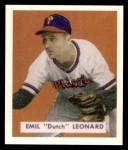 1949 Bowman REPRINT #115  Dutch Leonard  Front Thumbnail