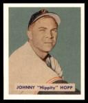 1949 Bowman REPRINT #207  Johnny Hopp  Front Thumbnail