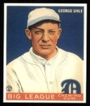 1933 Goudey Reprint #100  George Uhle  Front Thumbnail