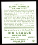 1933 Goudey Reprint #239  Leroy Parmelee  Back Thumbnail