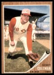 1962 Topps #508  Gordy Coleman  Front Thumbnail