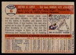 1957 Topps #6  Hector Lopez  Back Thumbnail