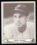 1940 Play Ball Reprint #16  Cecil Travis  Front Thumbnail