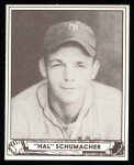 1940 Play Ball Reprint #85  Hal Schumacher  Front Thumbnail
