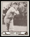 1940 Play Ball Reprint #112  Jim Brown  Front Thumbnail