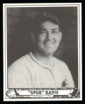 1940 Play Ball Reprint #163  Spud Davis  Front Thumbnail