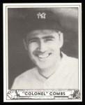 1940 Play Ball Reprint #124  Earle Combs  Front Thumbnail
