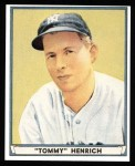 1941 Play Ball Reprint #39  Tommy Henrich  Front Thumbnail