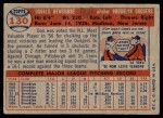 1957 Topps #130  Don Newcombe  Back Thumbnail