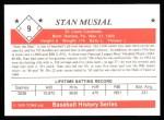 1979 TCMA The 1950's #9  Stan Musial  Back Thumbnail
