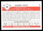 1979 TCMA The 1950's #88  Eddie Yost  Back Thumbnail