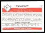 1979 TCMA The Stars of the 1950s #97  Jim Hearn  Back Thumbnail