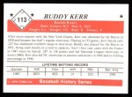1979 TCMA The 1950's #113  Buddy Kerr  Back Thumbnail