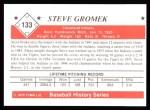 1979 TCMA The 1950's #133  Steve Gromek  Back Thumbnail