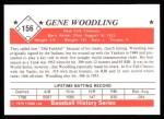 1979 TCMA The Stars of the 1950s #156  Gene Woodling  Back Thumbnail