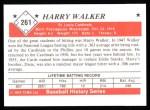 1979 TCMA The Stars of the 1950s #261  Harry Walker  Back Thumbnail