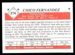 1979 TCMA The Stars of the 1950s #274  Chico Fernandez  Back Thumbnail