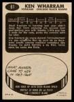 1965 Topps #61  Ken Wharram  Back Thumbnail