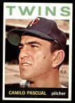1964 Topps #500  Camilo Pascual  Front Thumbnail