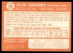 1964 Topps #489  Julio Navarro  Back Thumbnail