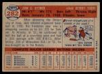 1957 Topps #282  Jack Dittmer  Back Thumbnail