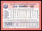 1991 Topps Traded #47 T Leo Gomez  Back Thumbnail