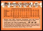 1988 Topps Traded #101 T Rafael Santana  Back Thumbnail