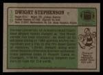 1984 Topps #129  Dwight Stephenson  Back Thumbnail
