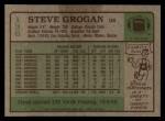 1984 Topps #136  Steve Grogan  Back Thumbnail