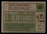 1984 Topps #141  Rick Sanford  Back Thumbnail