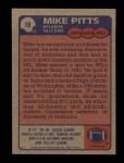 1985 Topps #18  Mike Pitts  Back Thumbnail
