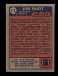 1985 Topps #112  Jim Burt  Back Thumbnail